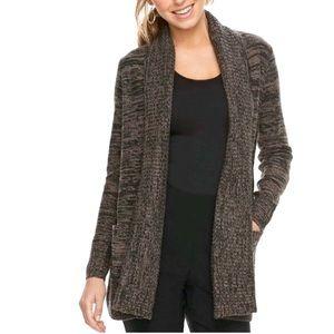 Apt. 9 Brown Shawl Cardigan Sweater